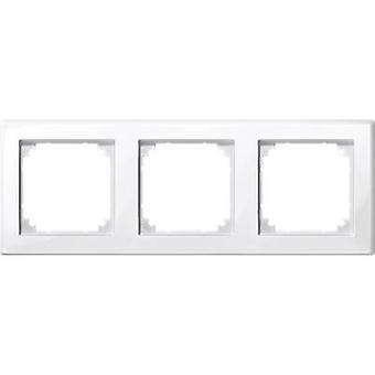 Merten 3x Frame M-Smart Polar white glossy 478319