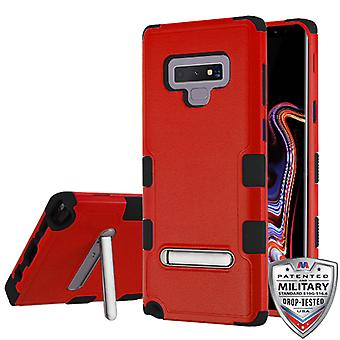 MYBAT naturlig rød/sort TUFF hybrid Protector Cover (w/stand) til Galaxy Note 9