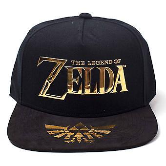 Zelda Baseball Cap The Legend of Zelda gold logo new Official Black Snapback