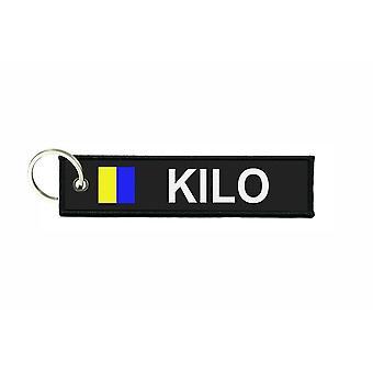 Türklammern stürzt Flagge Code Signale Signal maritime alphabet K KILO