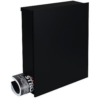 Ontwerpen van mailbox met krant vak zwart (RAL 9005) MOCAVI vak 111 muur brief vak 12 liter