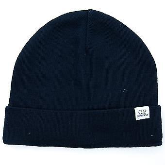 CP Company Extra Fine Merino Hat Navy 888