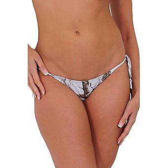 Women's White Authentic True Timber Bikini Bottom Only
