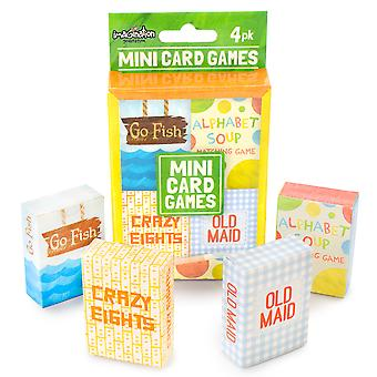 Mini Kids Card Games 4-pack
