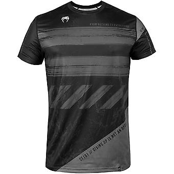 Venum AMRAP Dry Tech kortärmad T-shirt-svart/grå