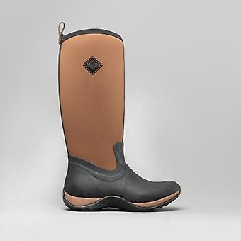 Muck Boots Arctic Adventure Ladies Rubber Wellington Boots Black/tan
