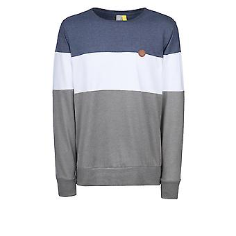 Alife and Kickin Men's Sweatshirt Vince Longsleeve with Color Blocking