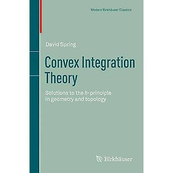 Convex Integration Theory Solutions to the HPrinciple in Geometry and Topology by Spring & David