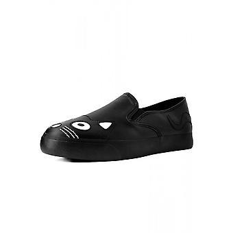 TUK Shoes Black Kitty Slip On Sneaker