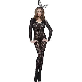 Body Stocking Black Lace, One Size
