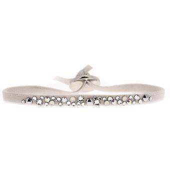 Bracelet interchangeable A39496 - fabric steel gray woman Bracelet
