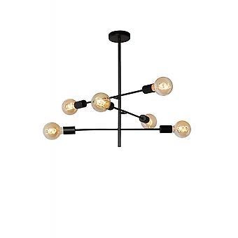 Nichel e Lucide Lester moderno metallo nero placcato soffitto luce