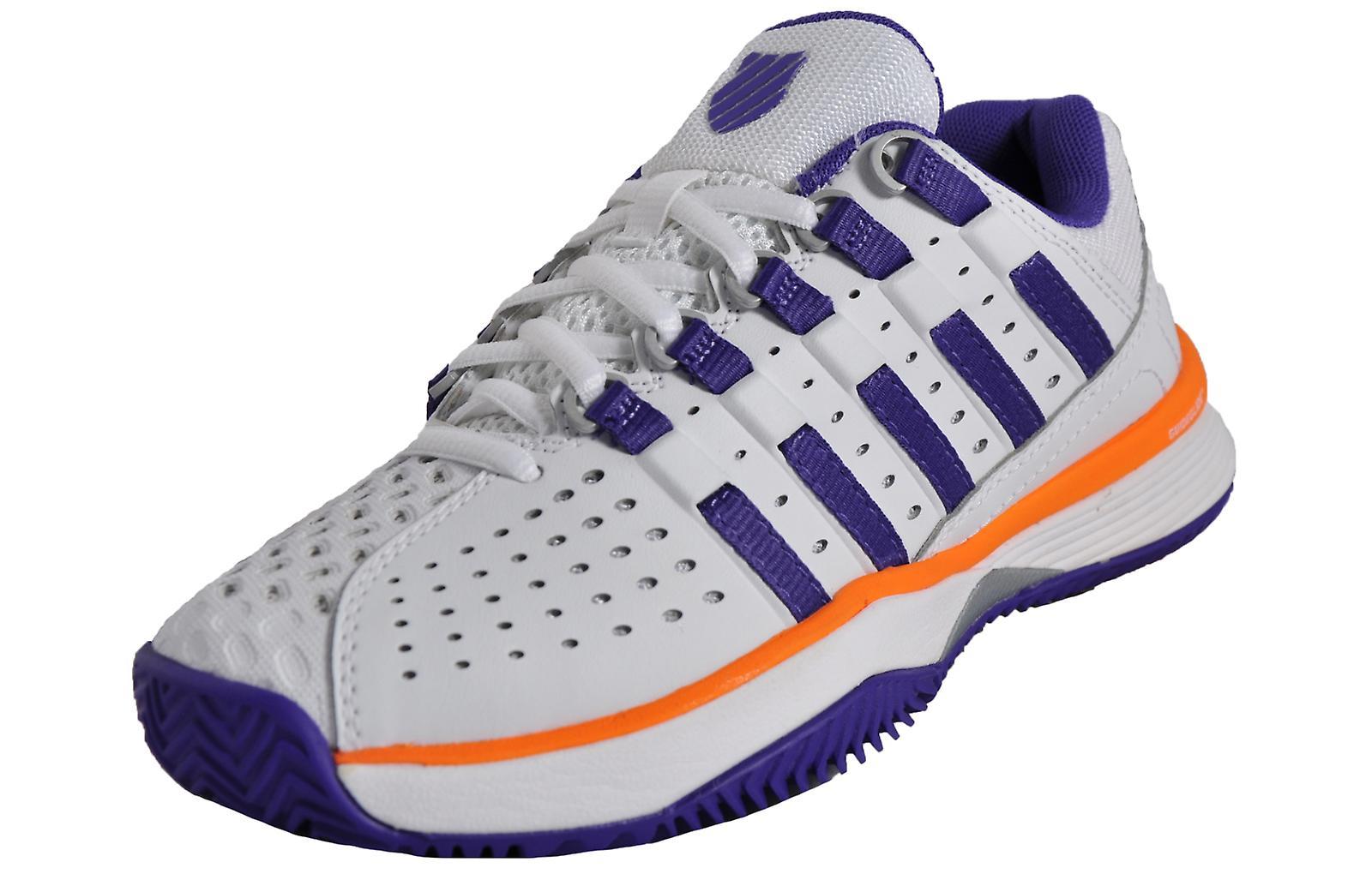 K Swiss Hypercourt HB White/Purple/Orange fzVcJ
