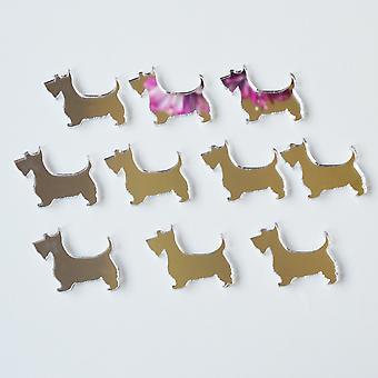 Scottish Terrier Aberdeen Terrier Scottie Hund Mini Handwerk Größe Acryl Spiegel (10Pk)