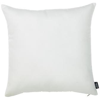 "18""x18"" White Honey Decorative Throw Pillow Cover 2 pcs in set"