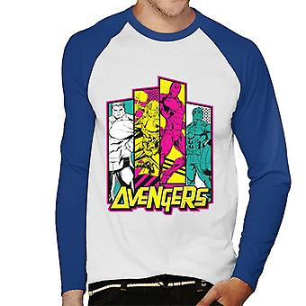 Marvel Avengers 80s Tiles Men's Baseball Long Sleeved T-Shirt