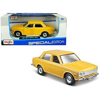 1971 Datsun 510 Yellow Edición Especial 1/24 Diecast Modelo Coche Por Maisto
