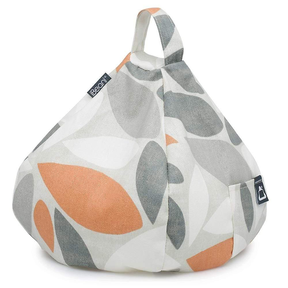 Ipad, tablet & ereader bean bag stand by ibeani - oval orange & grey