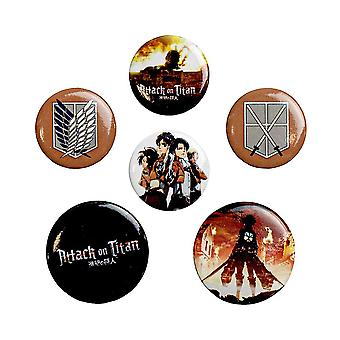 Attack on Titan, 6x Pins
