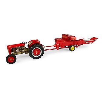 Massey Ferguson 35 Deluxe Tractor with Massey-Harris No.3 Baler Diecast Model