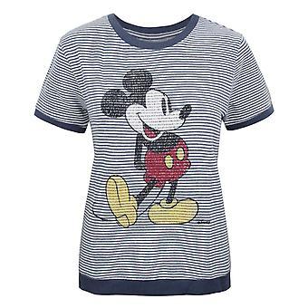 Junk Food Mickey Mouse Women's Short Sleeve Jumper