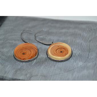 Fa fülbevaló fülbevaló yo fülbevaló ékszerek lógó fülbevaló kézzel készített egyedi ajándék rozsdamentes acél 2 cm
