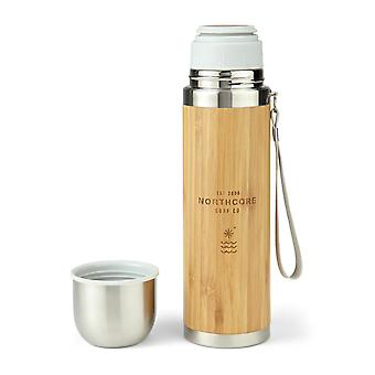 Northcore bambù in acciaio inox thermos flask