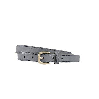Narrow Vintage Marine Blue Women's Belt With Old Silver Buckle