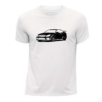 STUFF4 Boy's Round Neck T-Shirt/Stencil Car Art / C 63 Coup� Black/White