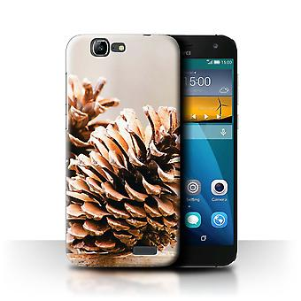 STUFF4 Case/Cover for Huawei Ascend G7/Pine/Conifer Cone/Christmas Photo