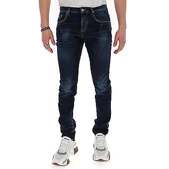 Les Hommes Lid321551l0950 Men's Blue Cotton Jeans