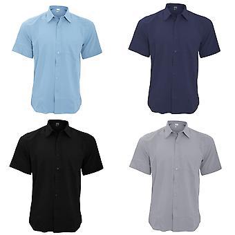 Henbury Mens Wicking Short Sleeve Work Shirt