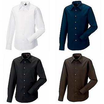 Russell Collection Mens Long Sleeve Tencel® Easy Care Fitted Shirt