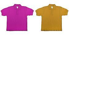 B&C Kids/Childrens Unisex Safran Polo Shirt (Pack of 2)
