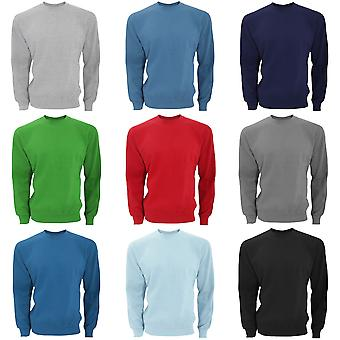 SG Mens Long Sleeve Crew Neck Sweatshirt Top
