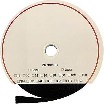 FASTECH® T02025999902225 Krok-och-slinga tejp stick-on (akryllim) Krokdyna (L x W) 25000 mm x 25 mm Svart 25 m