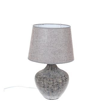 Lamp tabel grijs keramische H39 cm