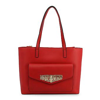 Love Moschino Original Women Fall/Winter Shopping Bag - Red Color 37126