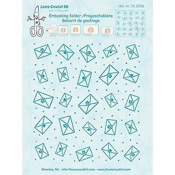 LeCrea - Embossing folder Background Envelopes 35.2656 14.4x16cm
