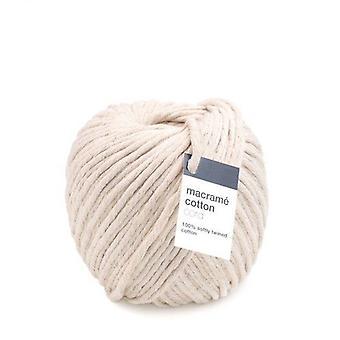 Vivant Macramé cord cotton 150m x 5mm - ecru