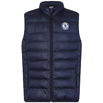Chelsea FC Official Football Gift Mens Gewatteerde Body Warmer Jas Gilet