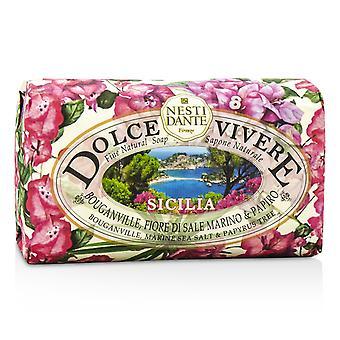 Dolce vivere fine natural soap sicilia bouganville, marine sea salt & papyrus tree 193451 250g/8.8oz