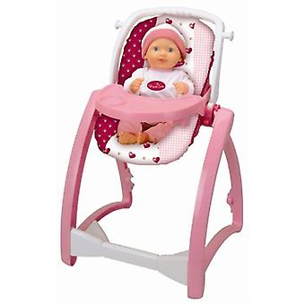 Theo Klein Princess Coralie Highchair 4 in 1 For Ages 3+ and Above Carrycot and