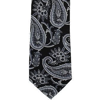 מייקלסון של לונדון מודגש פוליאסטר עם עניבה-אפור
