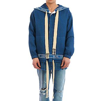 Loewe H2108910po5110 Men's Blue Cotton Cardigan