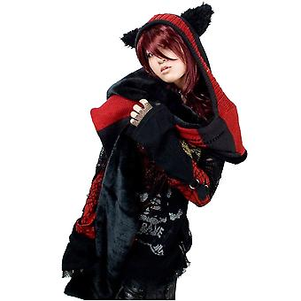 Restyle - kitty scarf hood - knitted scarf