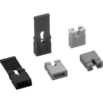 TRU COMPONENTS TC-03305-201-30-00 Kortslutningsbygel Kontaktavstånd: 2,54 mm Stift per rad:2 Innehåll: 1 eller e