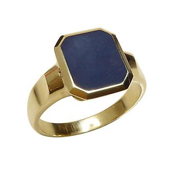 Christian cachet ring with layer stone