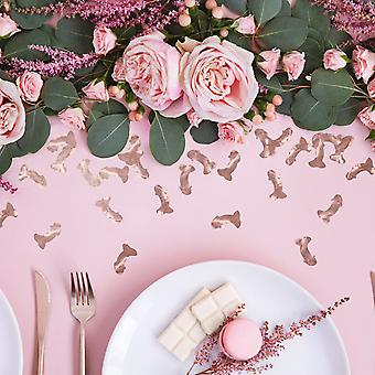 Rose Gold Confetti Penis Scatters 15g - Hen Party Decoration