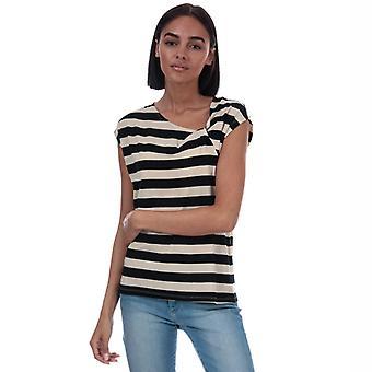 Camiseta de rayas Vero Moda Ashlee en negro para mujer y apos;s